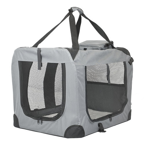 Soft Grey Pet Carrier - Large | Home Essentials UK