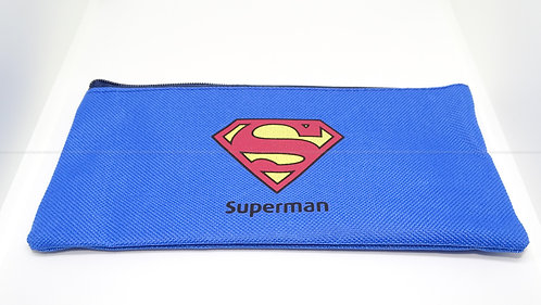 School Accessories Superman Pencil Case (Blue)