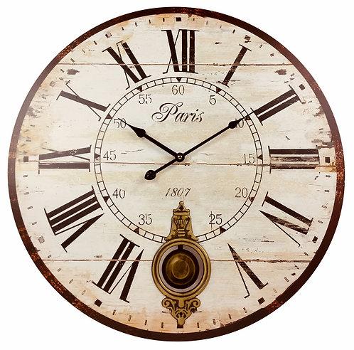 Paris Pendulum Wall Clock 58cm Shipping furniture UK