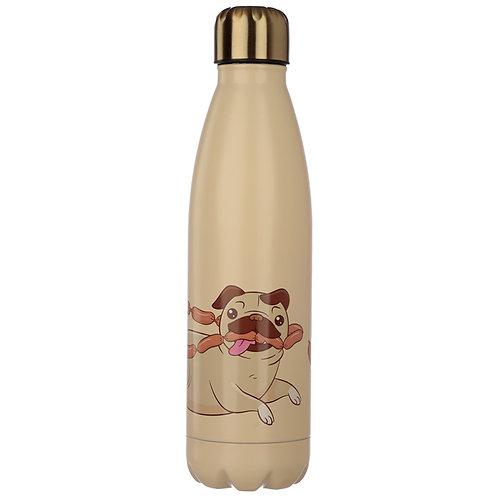 Mopps Pug Stainless Steel Insulated Drinks Bottle Novelty Gift