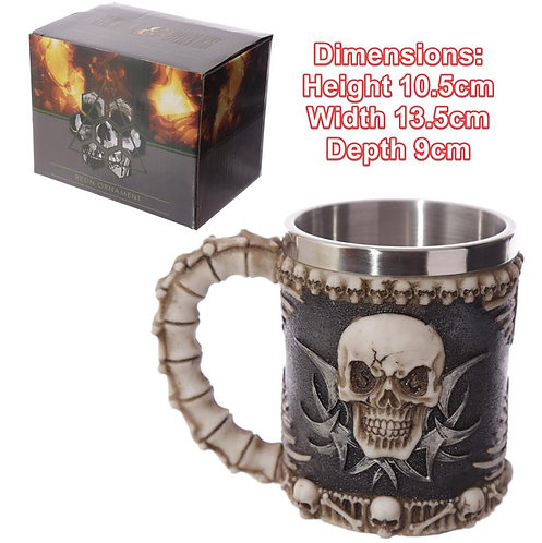 Novelty Collectible Decorative Skull and Spine Tankard