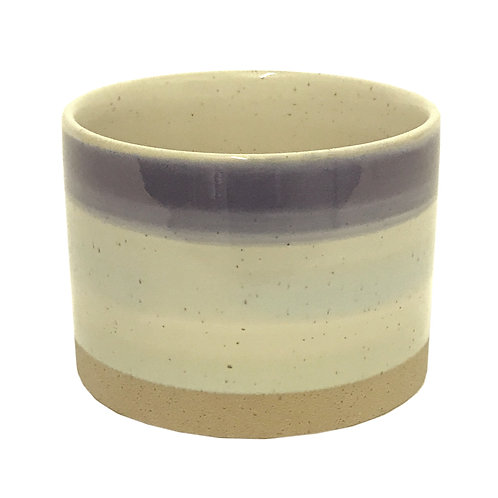 Blue Striped Ceramic Planter Shipping furniture UK