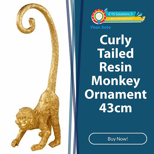 Curly Tailed Resin Monkey Ornament 43cm Shipping furniture UK