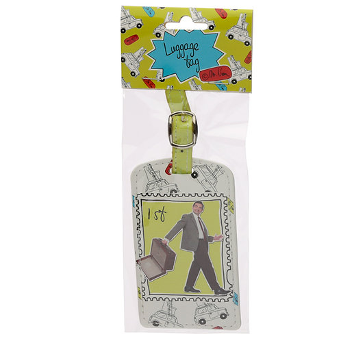 Fun Novelty Mr Bean 1st Class Stamp Luggage Tag Novelty Gift