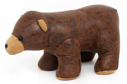 Faux Leather Bear Doorstop Shipping furniture UK
