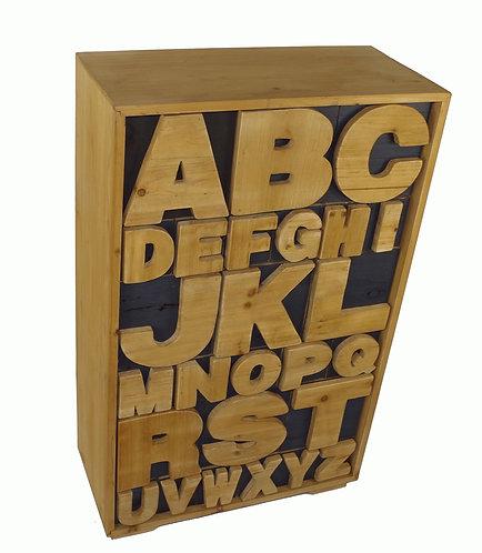 Alphabet Cabinet 54 x 26 x 89cm Shipping furniture UK