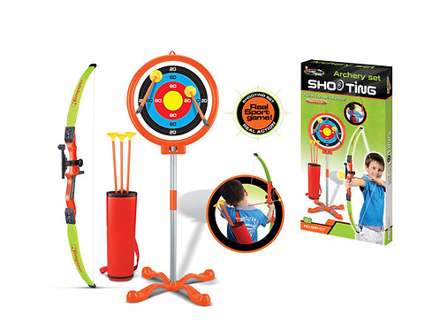 Childrens Toy Archery Set With Bow and Arrow Target | Home Essentials UK
