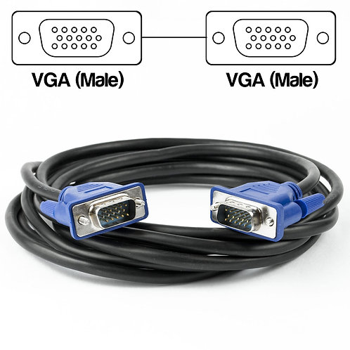 3 Metre VGA Male to Male Cable | Home Essentials UK