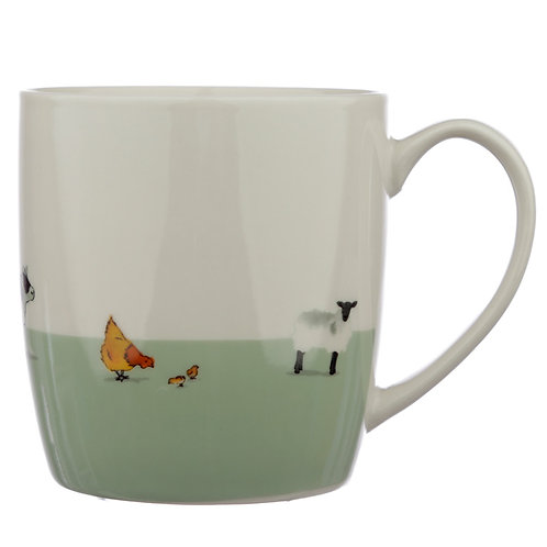 Collectable Porcelain Mug - Willow Farm Novelty Gift
