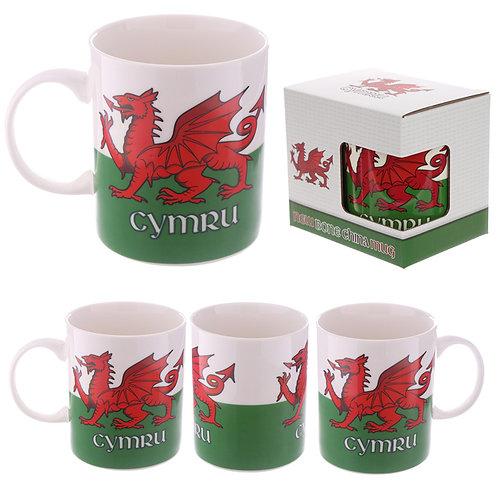 Collectable Porcelain Mug - Wales Welsh Dragon Novelty Gift