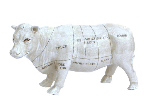Ceramic Cow Ornament, 29cm Shipping furniture UK
