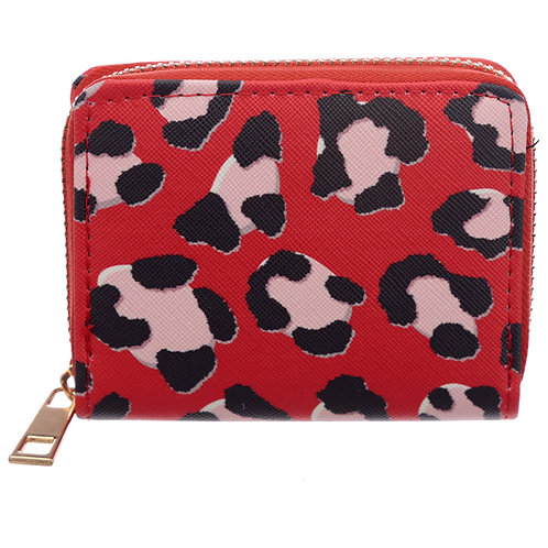 Small Zip Around Wallet - Animal Print Wild Life Novelty Gift