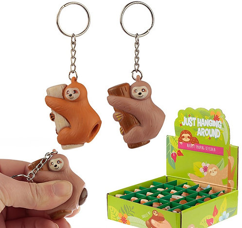 Fun Collectable Sloth Poop Keyring Novelty Gift