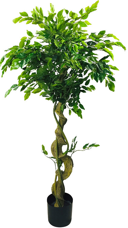 Artificial Ficus Tree With Twisted Trunk 137cm Shipping furniture UK