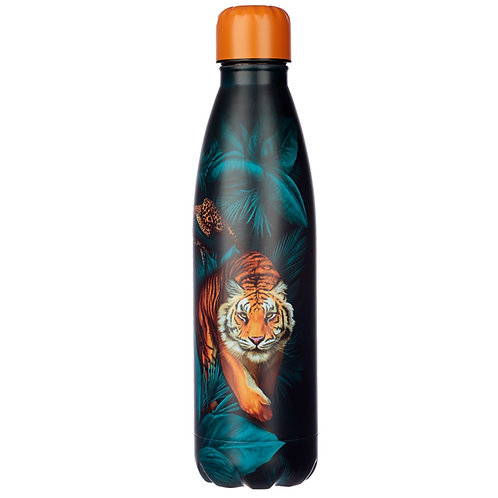 Big Cat Spots and Stripes Stainless Steel Insulated Drinks Bottle Novelty Gift