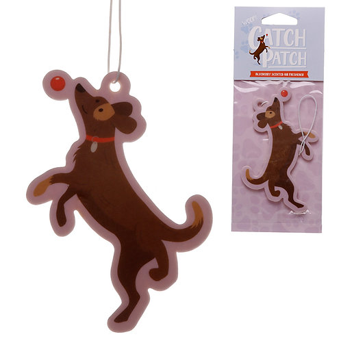 Catch Patch Blueberry Scented Dog with Ball Air Freshener Novelty Gift