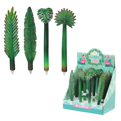 Novelty Gift Fun Tropical Leaf  Pen [Pack of 2]