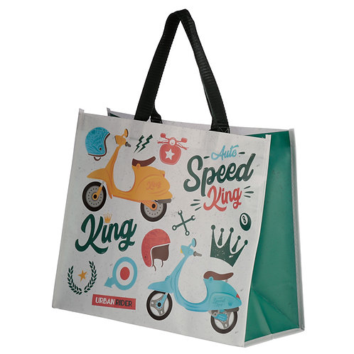 Scooter Speed King Design Durable Reusable Shopping Bag Novelty Gift