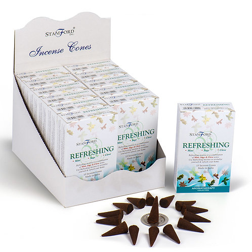 Stamford Hex Incense Cones - Refreshing Novelty Gift [Pack of 12]