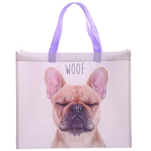 Fun French Bulldog Design Durable Reusable Shopping Bag Novelty Gift