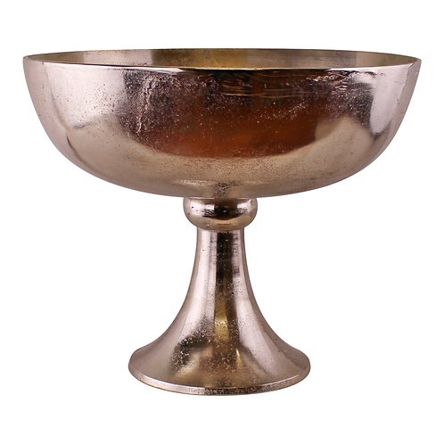 Silver Metal Bowl On Stand, 35x29cm Shipping furniture UK