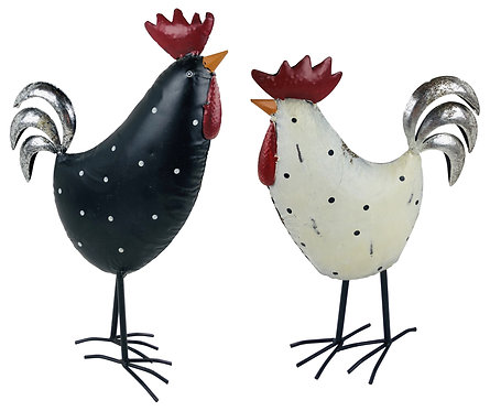Metal Hen and Chicken 36cm Shipping furniture UK