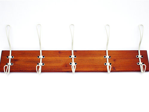 5 Hook Wooden Rack Cream Shipping furniture UK