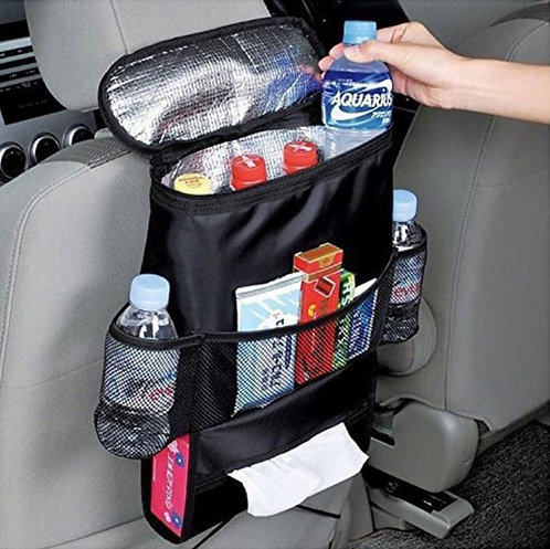 Car Back Seat Organiser with Cool Bag   Home Essentials UK