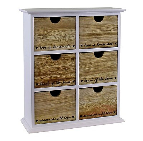 Heart Of The Home 6 Drawer Trinket Storage Shipping furniture UK