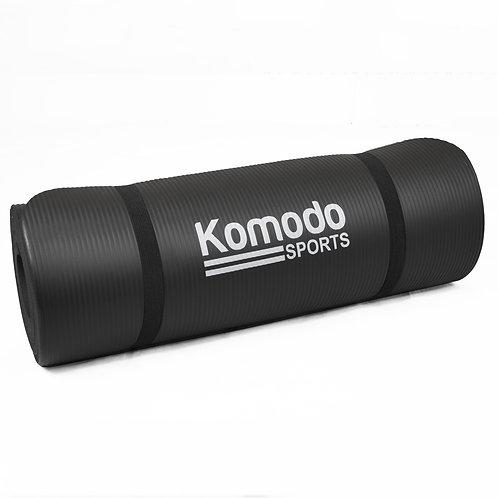 15mm Yoga Exercise Mat - Black | Home Essentials UK