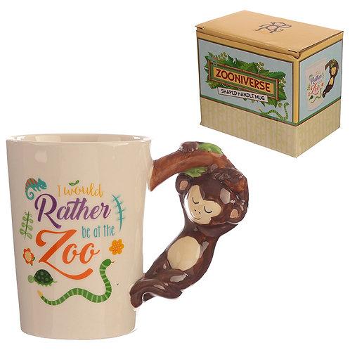 Collectable Shaped Handle Mug -  Monkey Novelty Gift