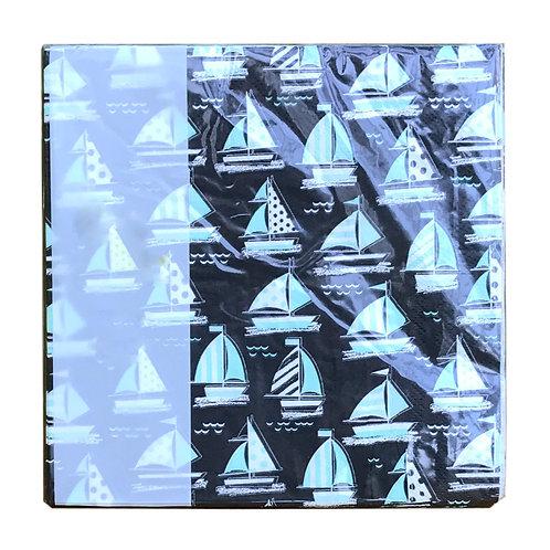 Pack/16 Sea life Paper Napkins - Boats Shipping furniture UK