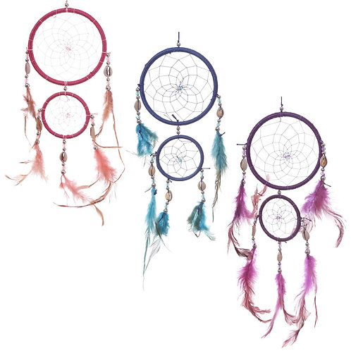 Decorative Feather and Bead Dreamcatcher 37cm Novelty Gift