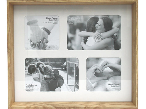 Natural Wood Box Multi Frame For Four Photos Shipping furniture UK