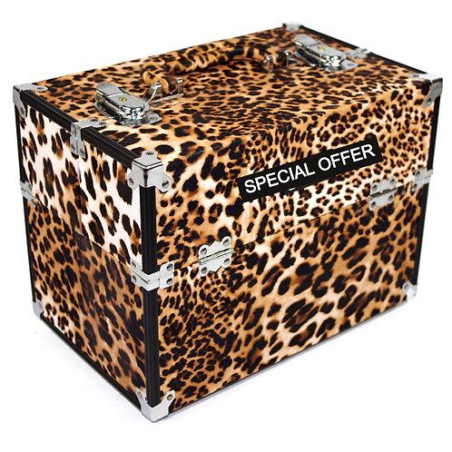 Vanity Case / Makeup Box Leopard Print Shipping furniture UK