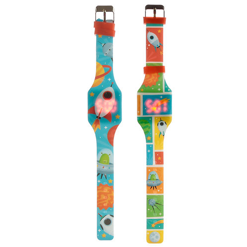 Silicone Digital Watch - Space Cadet Novelty Gift [1]