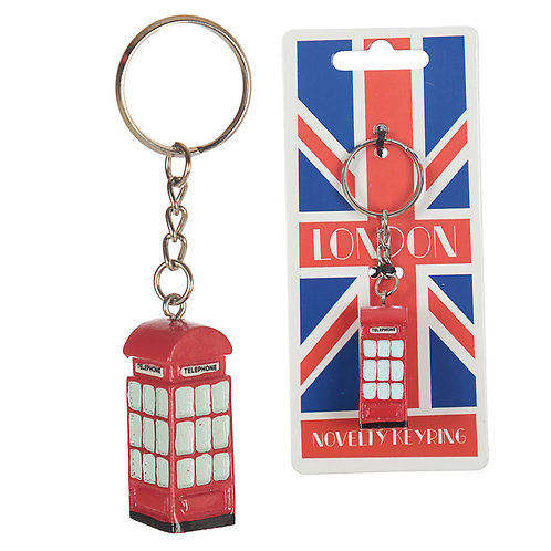 Fun Novelty London Telephone Bus Keyring Novelty Gift