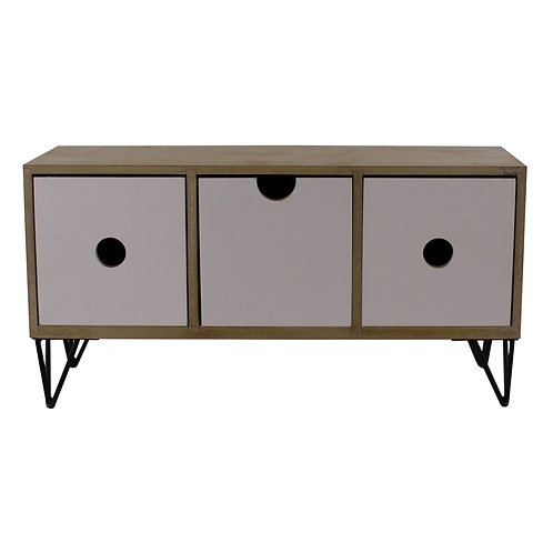 3 Drawer Trinket Unit with Wire Legs, Horizontal Style Shipping furniture UK