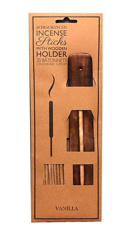 20 Fragranced Incense Sticks With Holder - Vanilla Shipping furniture UK