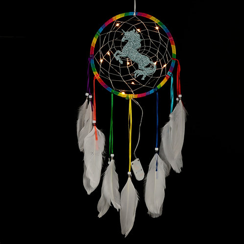 Decorative LED Rainbow Unicorn Dreamcatcher Novelty Gift