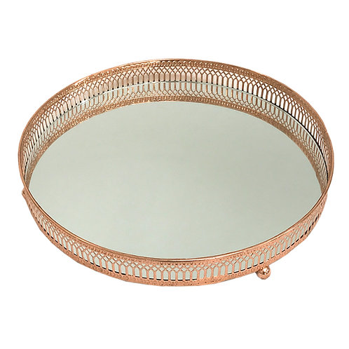 Copper Coloured Mirror Candle Plate Shipping furniture UK