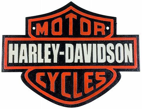 Metal Harley Davidson Sign 34cm Shipping furniture UK