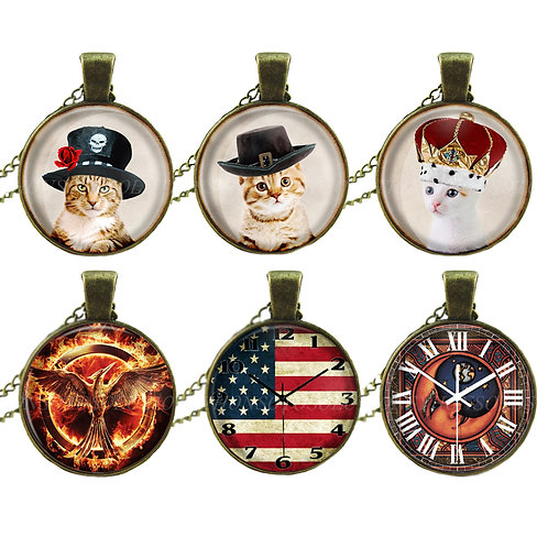Cat Pendant Necklace [Pack of 1]