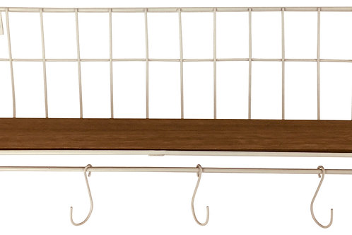 Wire Shelf with 5 Hooks Shipping furniture UK