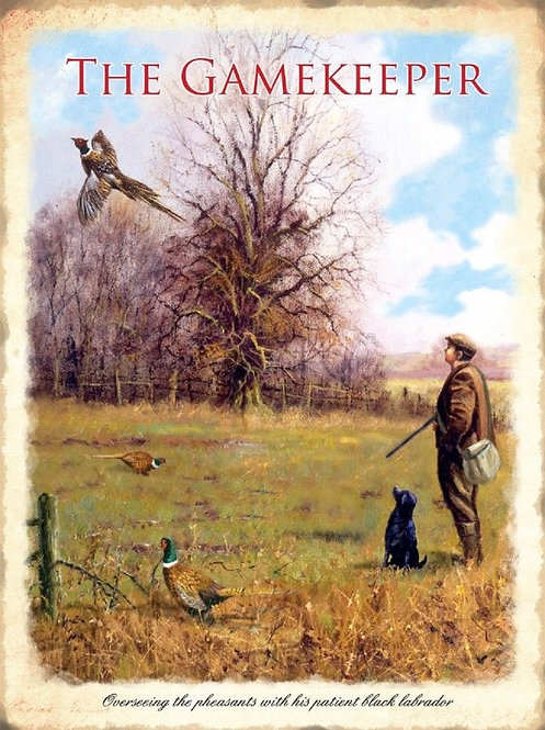 Gamekeeper Extra Large Metal Sign, 40cm Shipping furniture UK