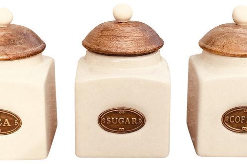 Ceramic Tea, Coffee & Sugar Jars Shipping furniture UK