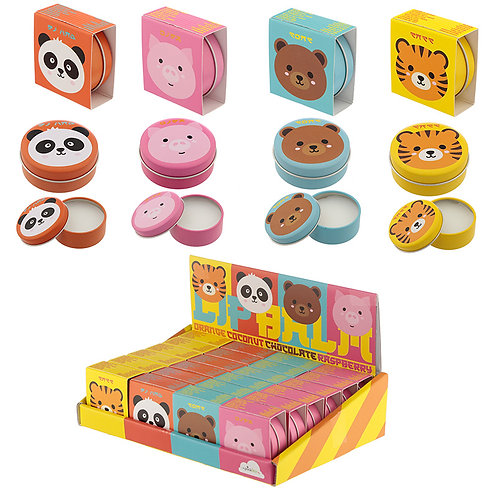 Funky Lip Balm in a Tin - Cute Animal Designs Novelty Gift