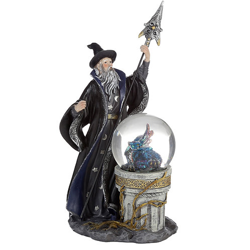 Spirit of the Sorcerer - Ice Dragon Wizard Snow Globe Waterball Novelty Gift
