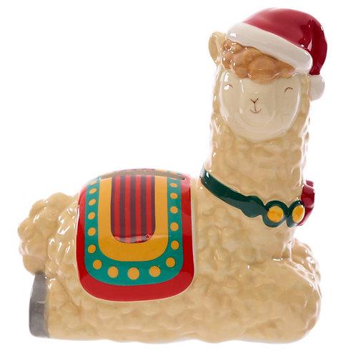 Collectable Ceramic Christmas Llama Festive Friends Money Box Novelty Gift