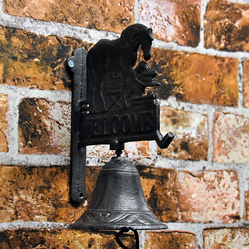 Welcome Horse Wall Bell 22cm Shipping furniture UK